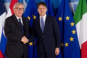Giuseppe Conte Jean Claude Juncker EC Etienne Ansotte EU web